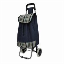 Navitass Foldable Shopping Trolley Grocery Bag (Dark Blue)