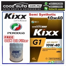 Kixx G1 10W40 Semi Synthetic Engine Oil Perodua Alza Bezza Kelisa Kenari Kemba