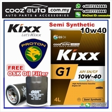 Kixx G1 10W40 Semi Synthetic Engine Oil Proton Perdana Persona Preve Putra (4L