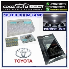 Toyota Avanza 2003-2011 Hilux 2005-2015 LED Room Lamp White With Crystal Cover