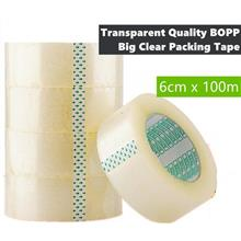 【READY STOCK】Strong Quality BOPP Clear Packing Tape 60mm x 105M