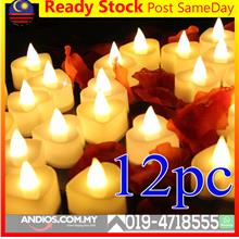 Led Candle Light Lamp Heart Valentines Romantic Decoration Propose Wed