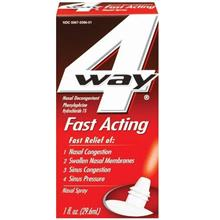 [From USA]4 Way Nasal Decongestant Nasal Spray, Fast Acting, 1-Ounce (29.6 ml)