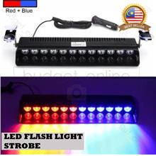 Emergency Warning Car LED 8W Flash Light Lamp Strobe Police Red Blue