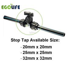 PP STOP TAP, HDPE POLY FITTINGS PP COMPRESSION VALVE 20MM, 25MM, 32MM