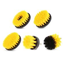 5PCS Electric Drill Cleaning Nylon Brush (YELLOW)
