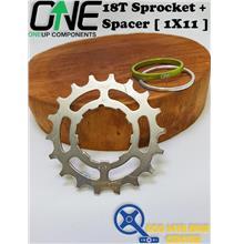 ONEUP COMPONENTS Cassette Cog 18T Sprocket + Spacer [ 1X11 ]