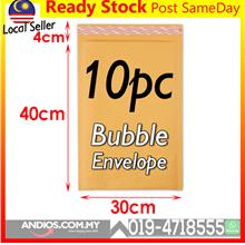 10pc Bubble Wrap Envelope Mailer 30*40cm Golden Surat Parcel Flyer