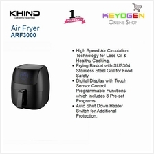 KHIND Air Fryer ARF3000 Digital Display with Touch Sensor