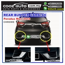 Perodua Myvi 2018 Chrome Rear Bumper Garnish