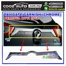 Perodua Myvi 2018 Chrome Rear Door Trunk Boot Tailgate Garnish