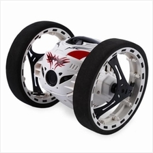 PEG SJ88 2.4G REMOTE CONTROL JUMPING CAR 2 SECOND ROTATION BOUNCE RC TOY (WHIT