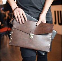 Leather Men Envelope Hand Carry Bag