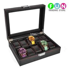 Carbon Fiber Watch Display & Storage Box (Glass Surface)