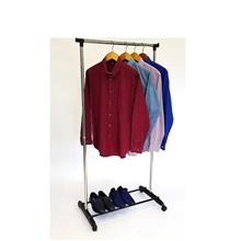 123 Stainless Steel Solid Single Pole Garment Rack