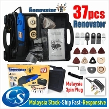 37pcs The Renovator Oscillating Deluxe DIY Tool Multi-Function Saw Kit