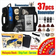 37pcs The Renovator Oscillating Deluxe DIY Tools Saw Wooden Metail Kit