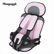 MUMUGONGZHU KIDS SAFETY  COTTON ADJUSTABLE CHILDREN CAR SEAT (PINK)