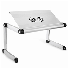 OMAX A7L ADJUSTABLE HEIGHT LAPTOP DESK NOTEBOOK TABLE WITH VENTED STAND (WHITE