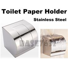 Silver Stainless Steel Wall Mount Toilet Tissue Paper Roll Holder Box