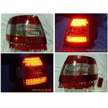 DEPO AUDI A4 B5 `96-00 Tail Lamp Crystal LED Red/Clear [AD01-RL01-U]