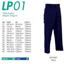 Cargo Pant 100% Cotton 270Gsm Unisex Navy Blue Size 27'-42'