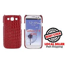 SAMSUNG GALAXY S3 I9300 RED CROCODILE SKIN DESIGN PLASTIC CASE