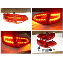 DEPO Audi A4 B8 '09 Tail Lamp Crystal LED Red-Clear