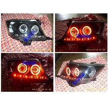 Toyota Hilux Vigo '11 Head Lamp DRL R8 [Red CCFL & LED & Angle Eye]