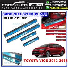 TOYOTA VIOS 2013-2018 Colorful Door Side Sill Step Plate (BLUE)