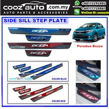 PERODUA BEZZA Colorful Door Side Sill Step Plate (RED or BLUE)