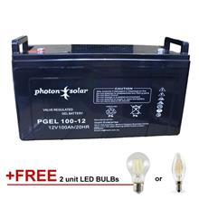 Gel Deep Cycle Battery 12V 100Ah Rechargeable Solar Battery