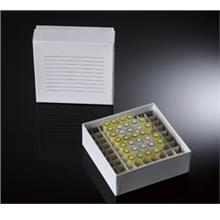 "2"" Superior White Coated Cryobox with 81-well divider, -196ºC to 121ºC"