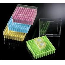 100 Well PC Storage Boxes with Open Top Lid , Assorted Colours