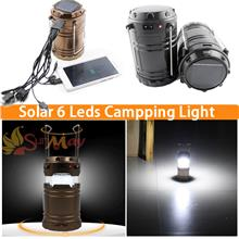 LED solar outdoor rechargeable camping Lantern camping lamp small por