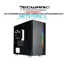 TECWARE M3 TG MATX GAMING CASE (WITH RAINBOW LED AT FRONT)