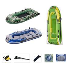 Inflatable 3-4 Person Fishing Boat Set Kayak With Oars and Pump