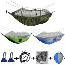Lightweight Nylon Hammock with Mosquito Net Hammock for Camping