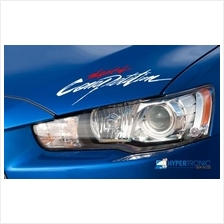 Ralliart The Spirit of Competition Sticker 30cm White Red