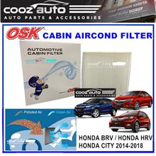 Honda BRV HRV CITY 2014 - 2018 OSK Cabin Aircond Replacement Filter