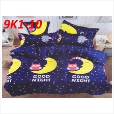 4 IN 1 100% Cotton KING SIZE FITTED BEDSHEET