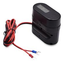 BLACK CS - 682A1 Motorcycle Cigarette Lighter USB Charger with Voltmet.