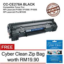 HP 78A CE278A Grade-A Compatible Toner + FREE Cyber Clean Zip Bag
