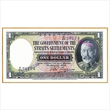Straits Settlement Old $1 Settlements Currency Antique Banknote Malaya