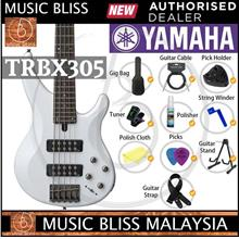 Yamaha TRBX305 5-string Electric Bass Guitar Package -White (TRBX 305)