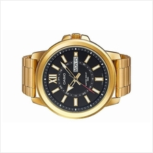 Casio Men Day Date Large Size Gold Tone Watch MTP-X100G-1AVDF