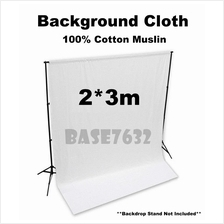 2*3m WHITE 100% Cotton Shooting Background Backdrop Muslin Cloth