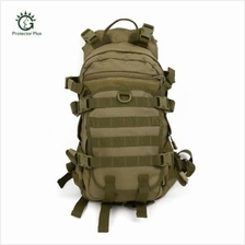 PROTECTOR PLUS 25L OUTDOOR CYCLING CLIMBING MILITARY BACKPACK (GREEN BROWN)