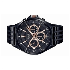 Casio Men Multi Hands Black Stainless Steel Watch MTP-E303B-1A2VDF