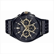 Casio Men Multi Hands Black Stainless Steel Watch MTP-E303B-1AVDF